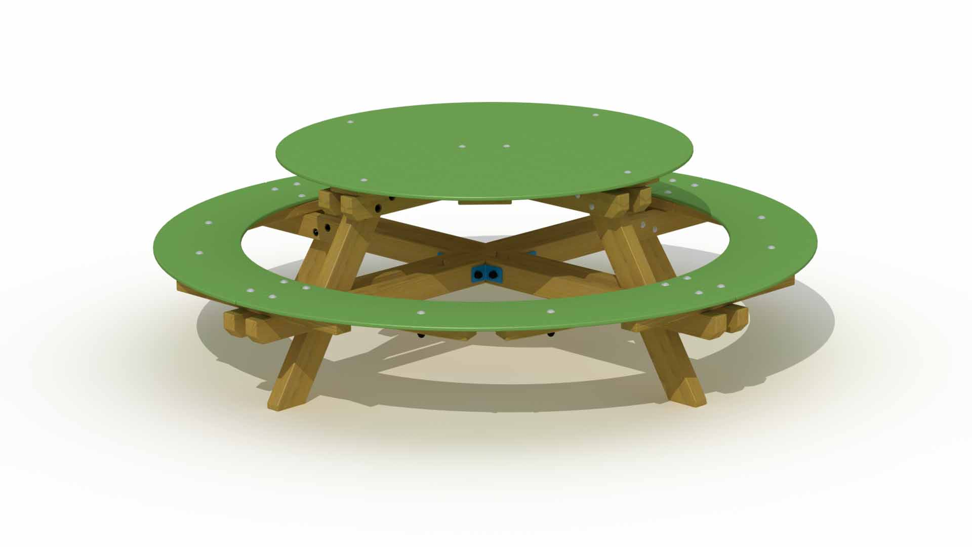 Polyethylene round picnic table europlay for Table ronde 52